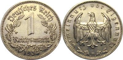 GermanCoins.com Bulk Lots 1 Mark Nazi Copper-Nickel (no swastika)