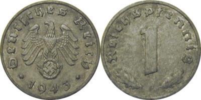 GermanCoins.com Bulk Lots 1 Pfennig Nazi Zinc