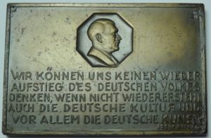 #3006 1937 Hitler Plaquette celebrating the 25th anniversary of the Wurttemberg State Theater
