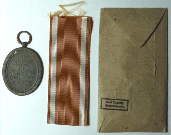 "c. 1944 Germany World War II ""Westwall"" Medal"